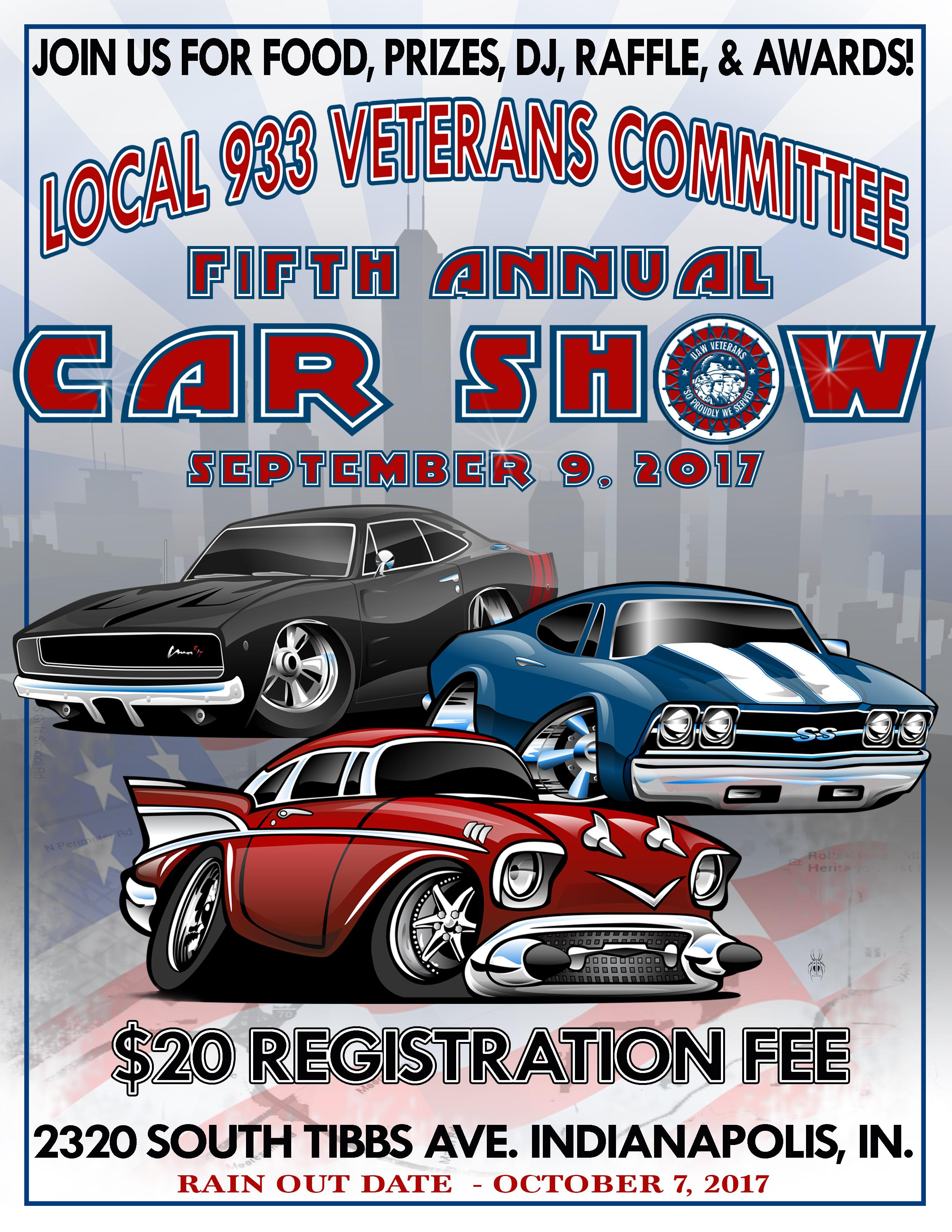 Veterans Committee Car Show UAW Local - Car show in indianapolis this weekend